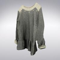 women s hip sweater 3d model