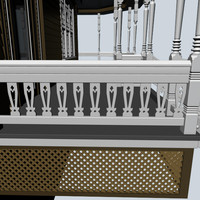 maya decorative baluster