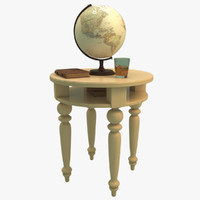 3d end table model