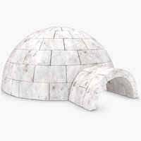 3d model igloo scanline