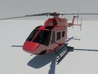 mbb bk 117 3d model