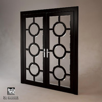 double doors art 3d model