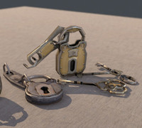 3ds max keys locks pack