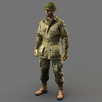 soldier ww2 paratrooper 3d model