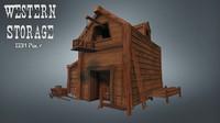 3d model western storage