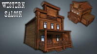 western saloon 3d 3ds