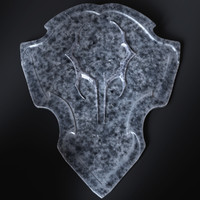 iron shield 3d model