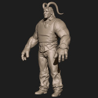 3ds demon character zbrush