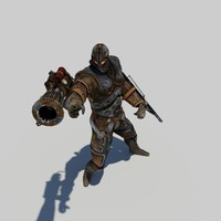 golem steampunk 3d model