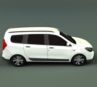 3d dacia lodgy 2013 model
