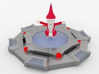 christmas papa noel 3d model