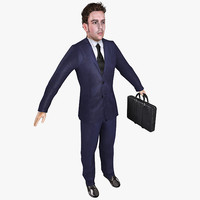 3d model realistic businessman
