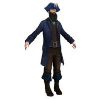 3d pirate captain