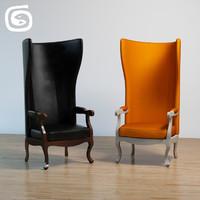3d armchair arne