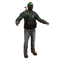 3d model hamas terrorist