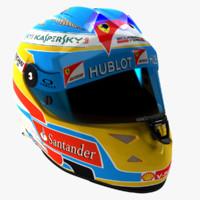 schuberth f1 helmet fernando 3d model