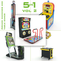 3ds max arcade machines table games