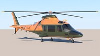 high-poly helicopter lwo