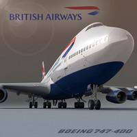 boeing 747-400 british airways 3ds