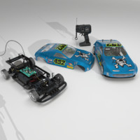 3d aaa powered rc car model