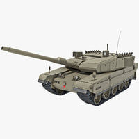 altay turkish main battle tank 3d max