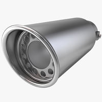 3d automobile exhaust tip 1