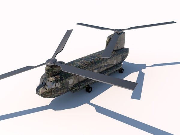3d model of boeing chinook helicopter - TURBOSPAIN BOEING CH47 CHINOOK ...