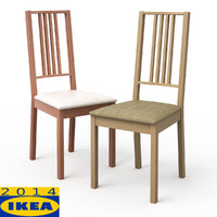 3d 3ds borje light wood dining chair