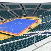 futsal arena soccer 3d model