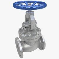 3d globe valve model
