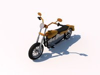 free c4d mode harley heavy chopper