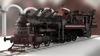 3d model train steampunk