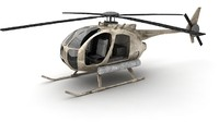 3d mh-6 little bird model