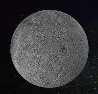 3d photorealistic moon