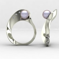 3d fashion mobius ring