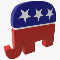 3d model republican elephant symbol