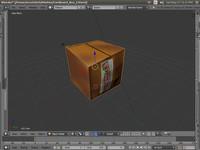 cardboard box 3d blend