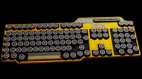 3d model of 2010 art deco keyboard