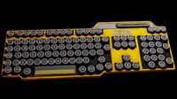 3d model of art deco keyboard