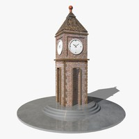 3ds max clock tower