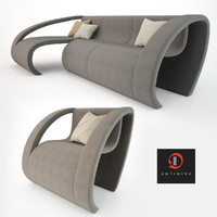 3ds max antidiva sofa chair