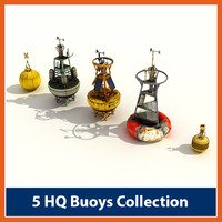3d pack ocean buoys model
