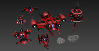 space craft pack modular 3d obj