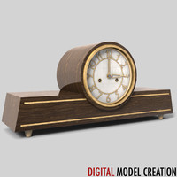 vintage shelf clock 3d model