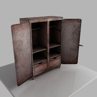 3d wardrobe rust rusty model