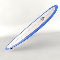 longboard surfboard 3d 3ds