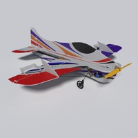 radiocontrolled aeroplane 3d x