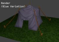 tent fantasy 3d obj
