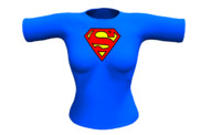 Superman girl shirt