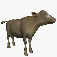 3d model cow ready animations